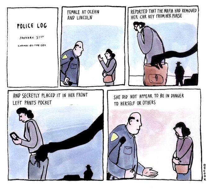 Police Log Comics: Абсурдные полицейские сводки в формате комиксов. Изображение № 13.