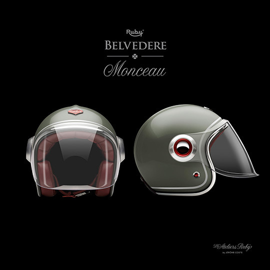 Коллекция мотоциклетных шлемов марки Les Ateliers Ruby. Изображение № 7.