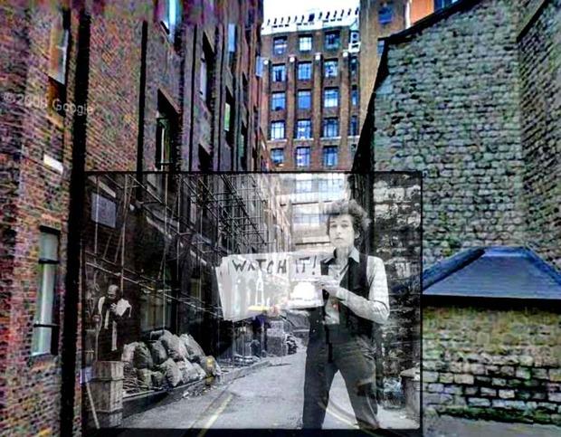 Американский фотограф наложил обложки известных альбомов на современные виды Нью-Йорка. Изображение № 5.