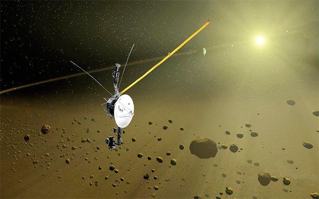 Зонд Voyager 1 стал первым рукотворным объектом, вышедшим в мезжзвёздное пространство. Изображение № 1.