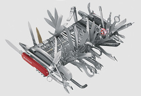 В 2007-м Wenger выпускает самый сложносочиненный швейцарский армейский нож из 87 предметов. Изображение №17.