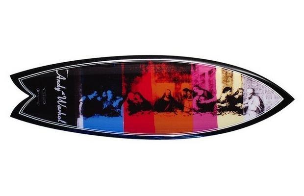 Марка Bessell выпустила доски для серфинга с картинами Энди Уорхола. Изображение №2.