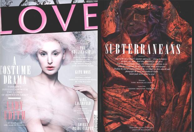 Съемка в осенне-зимнем номере журнала Love 2012 года. Изображение № 1.