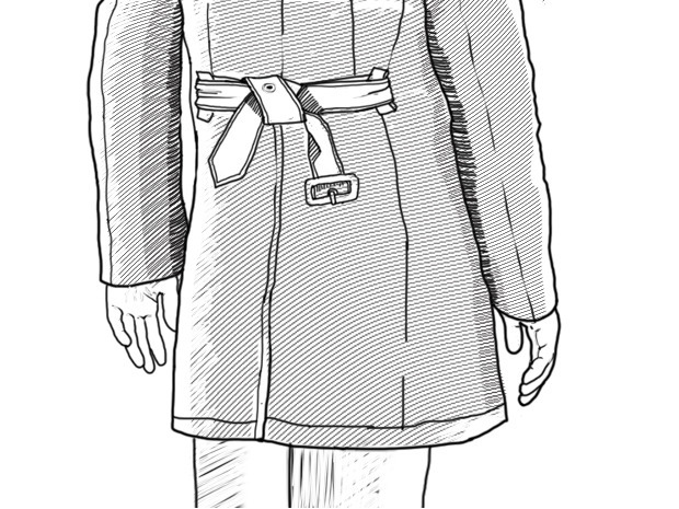 Совет: Как завязывать пояс на тренче. Изображение № 11.