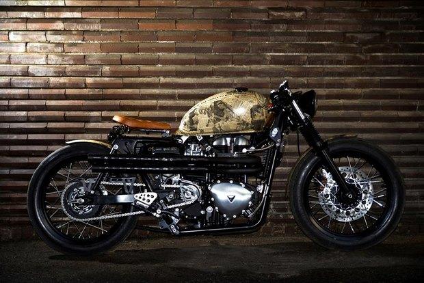 Итальянская мастерская Centro Modo Lodi представила «королевский» кастом модели Triumph Thruxton. Изображение № 20.