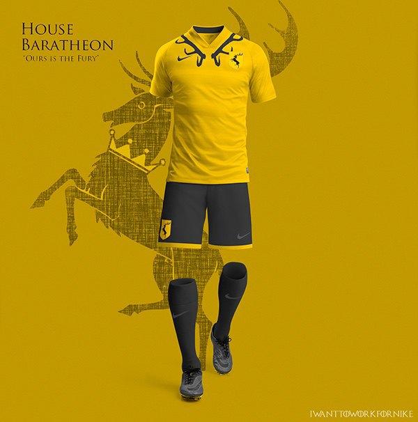 Испанский дизайнер создал футбольную форму для «Игры престолов» . Изображение № 7.