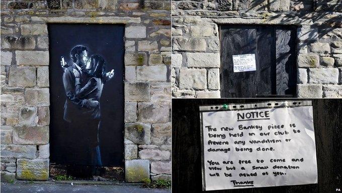 Новое граффити Бэнкси спрятали от глаз публики. Изображение № 1.
