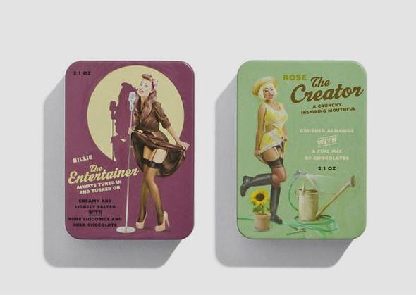 Коробки конфет с портретами девушек в стиле пин-ап. Изображение № 7.
