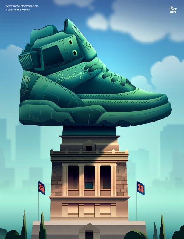 Сюрреалистический взгляд на кроссовки в проекте Sole of the Week. Изображение № 13.