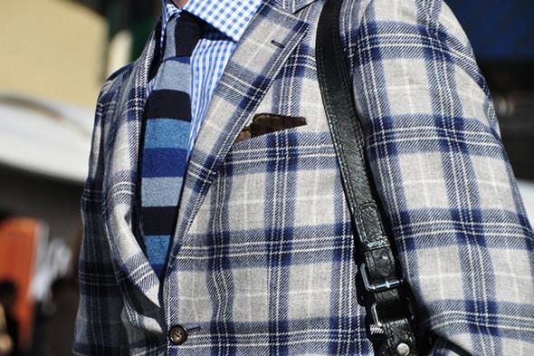 Изображение 8. Шарфы, клатчи, клетчатые пиджаки и подвернутые джинсы.. Изображение № 3.
