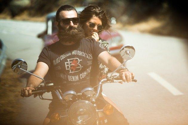 Марка Edwin совместно с мастерской Blitz Motorcycles представила лукбук новой коллекции. Изображение № 1.