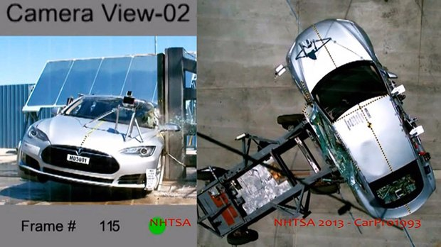 Электромобиль Tesla S сломал пресс для проведения краш-тестов. Изображение № 2.