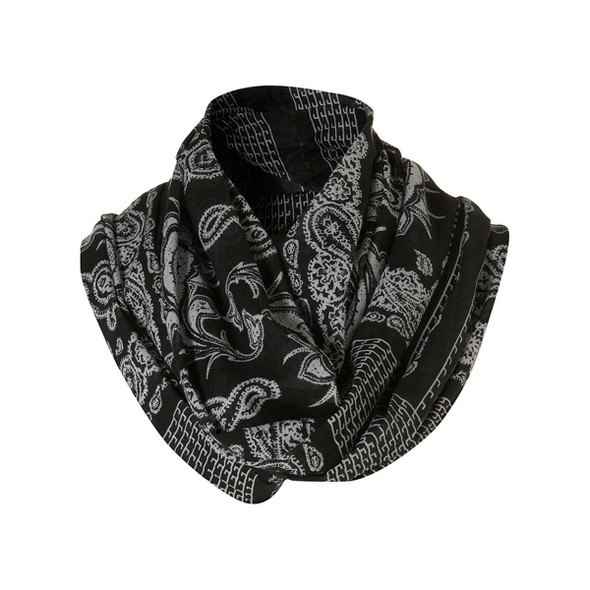 TOPMAN Black Bandana Printed Snood, 14£. Изображение №66.