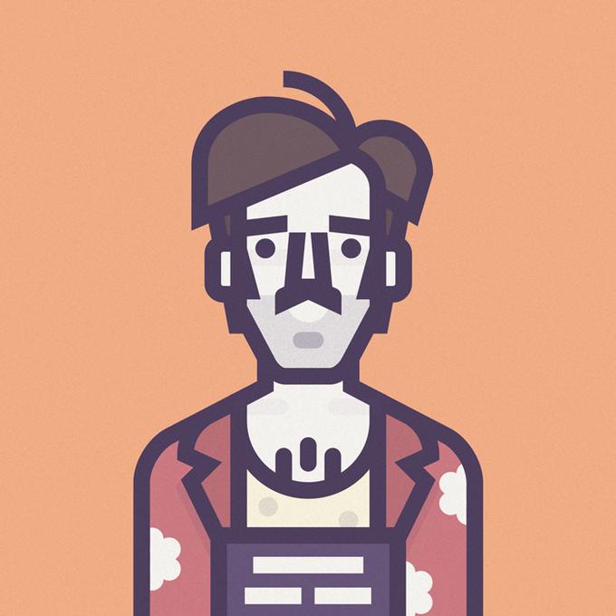 Coen Cast: Персонажи фильмов братьев Коэн в иллюстрациях дизайнера Ричарда Переса. Изображение № 1.