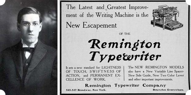 Гофард Лавкрафт высоко ценил как ружья Remington, так и печатные машинки той же марки. Изображение № 11.