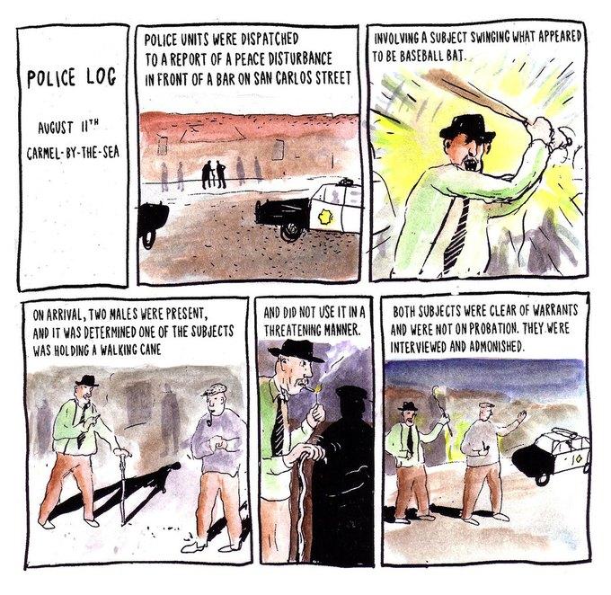 Police Log Comics: Абсурдные полицейские сводки в формате комиксов. Изображение № 9.