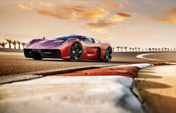 Представлен новый концепт суперкара на базе Ferrari 458 Italia. Изображение № 5.