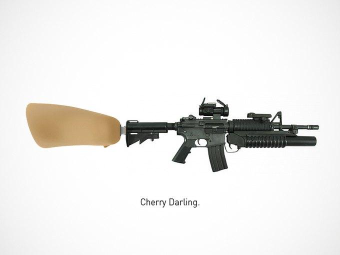 Итальянский дизайнер представил коллекцию плакатов знаменитого оружия. Изображение № 9.
