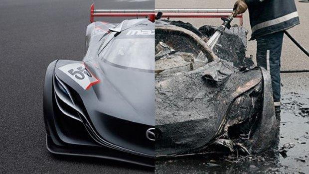 В телешоу Top Gear сожгли суперкар Mazda Furai. Изображение № 1.