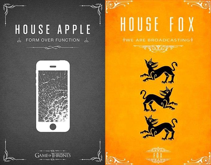 Как выглядели бы логотипы брендов в мире «Игры престолов». Изображение № 6.