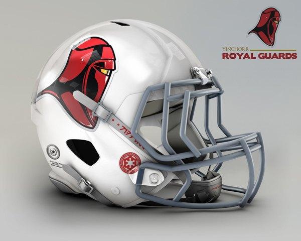 Мексиканец создал коллекцию футбольных шлемов, посвящённую «Звёздным войнам». Изображение № 6.