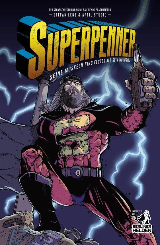 В Берлине выпустили комикс про Супербомжа. Изображение № 1.