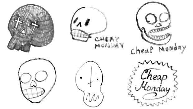 Дизайнеры Look At Media рисуют логотипы марок одежды по памяти. Изображение № 4.