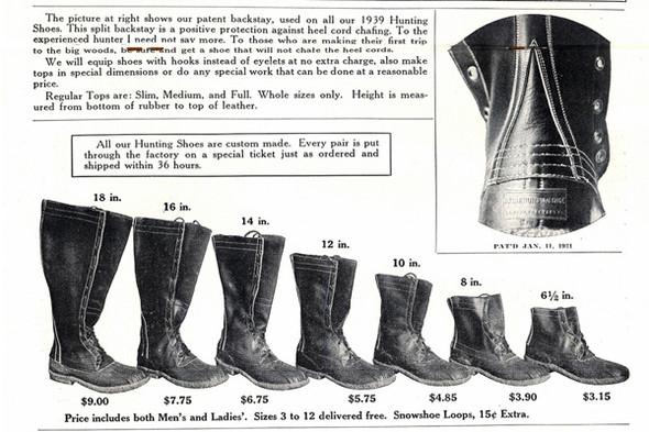 Модельный ряд классических «лягушек» L.L. Bean предполагал наличие ботинок разной высоты. Изображение № 6.