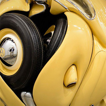 "Indonesian sculptor turned ""Volkswagen Beetle"" in a perfect sphere.  Image number 3."