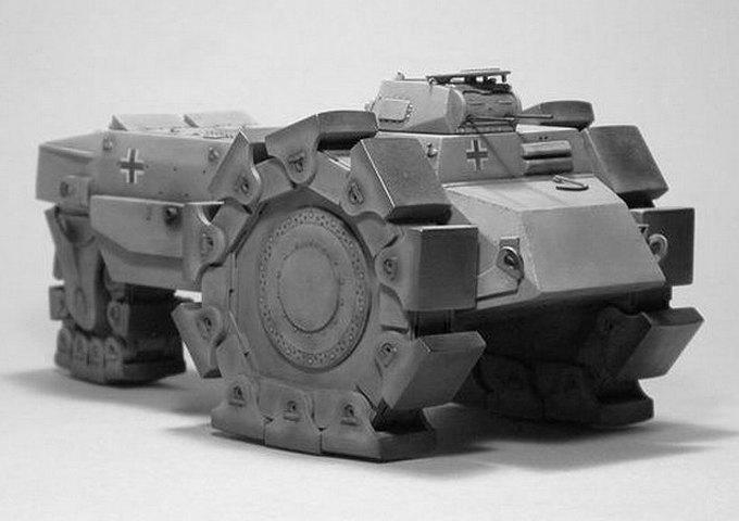 Летающий танк, дирижабль-авианосец и другие виды безумной военной техники. Изображение №1.
