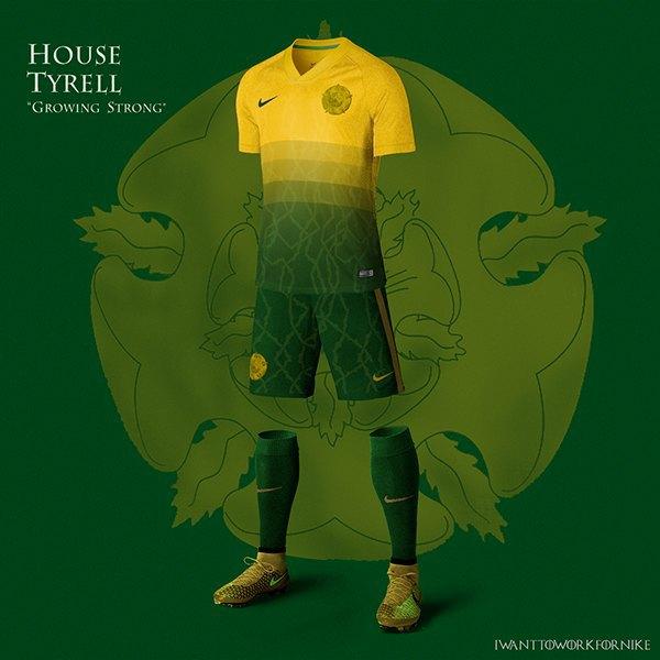 Испанский дизайнер создал футбольную форму для «Игры престолов» . Изображение № 2.