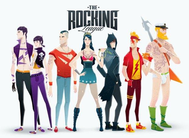 Super Rockers: Супергерои в образах рокеров. Изображение № 9.