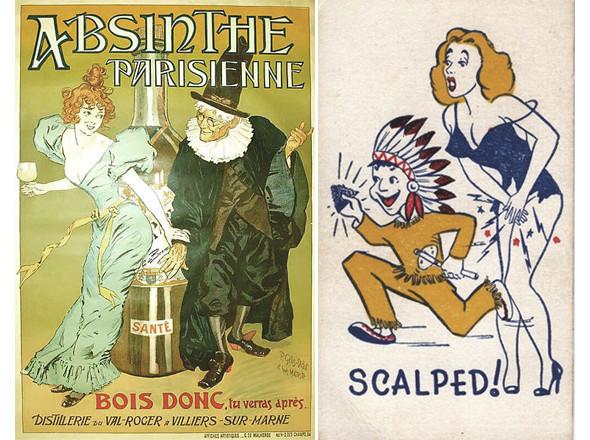 Реклама абсента / Грязная шутка сороковых годов (правда, есть мнение, что она лишь хорошо стилизована под тот период). Изображение № 22.