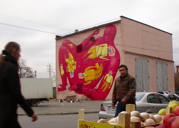 Скетчбук: Участники граффити-дуэта из Киева Interesni Kazki рассказывают о своих лучших работах. Изображение № 15.