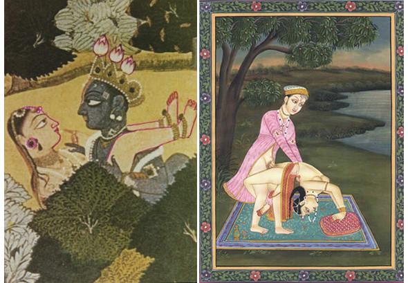 Эротическое искусство Индии, одна из иллюстраций Камасутры. Изображение № 5.