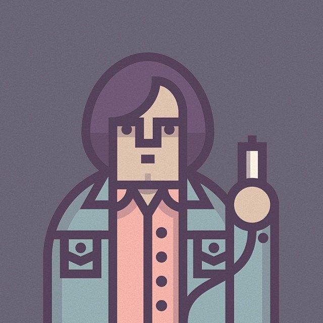 Coen Cast: Персонажи фильмов братьев Коэн в иллюстрациях дизайнера Ричарда Переса. Изображение № 17.