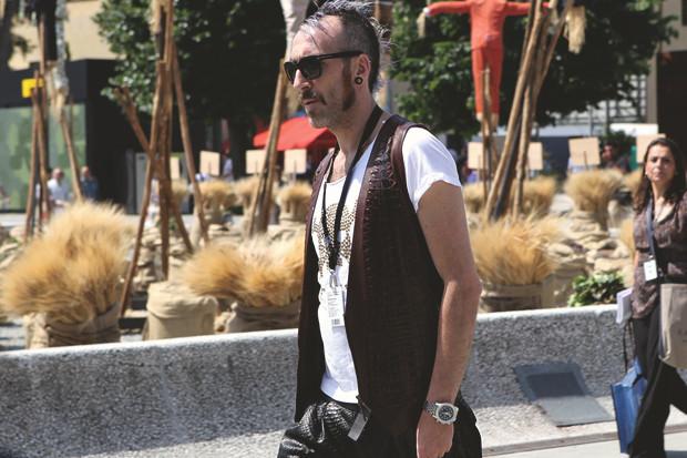 Первый день Pitti Uomo: Прически, усы и бороды посетителей. Изображение № 17.