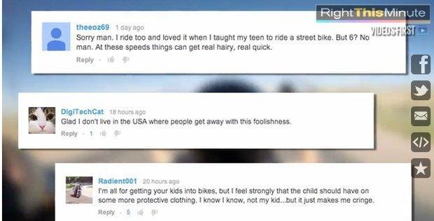6-летний американец проехал по шоссе на отцовском «Харлее». Изображение № 1.