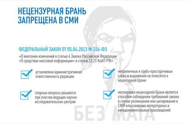 Российским СМИ запретили материться. Изображение № 1.