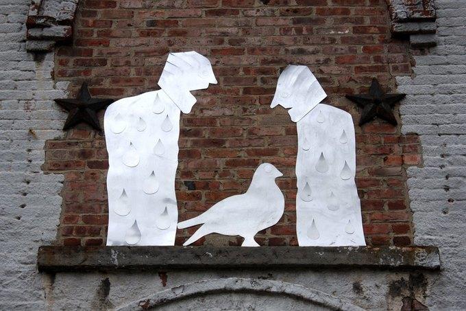 Уличные скульптуры, созданные неизвестными. Изображение № 7.