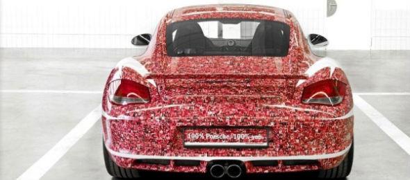Porsche раскрасили автомобиль портретами подписчиков в Facebook. Изображение № 5.