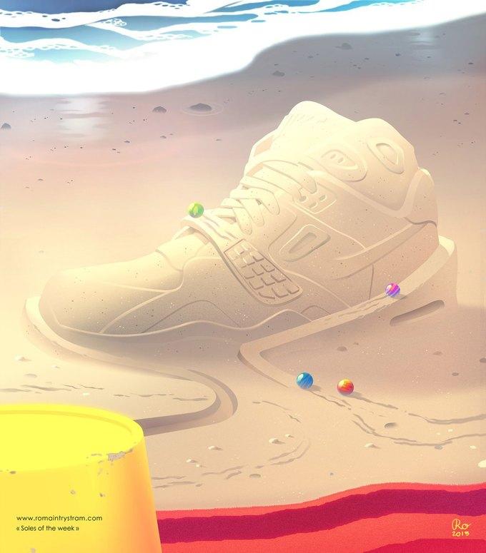 Сюрреалистический взгляд на кроссовки в проекте Sole of the Week. Изображение № 11.