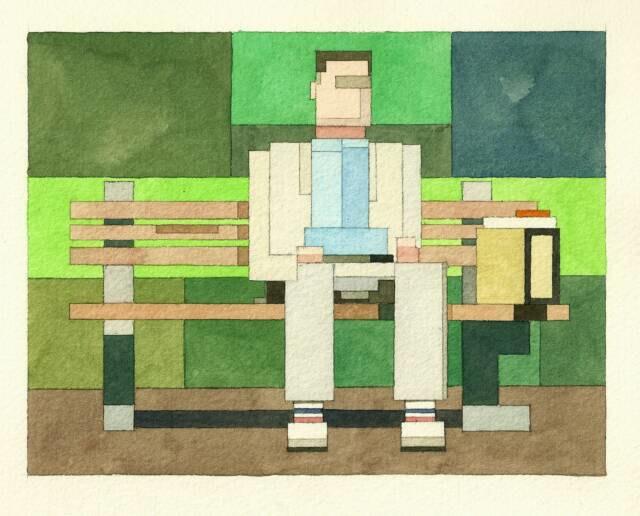 Адам Листер: Иконы поп-культуры в 8-битной живописи. Изображение № 2.