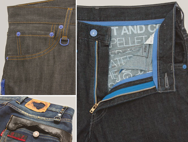 Кастет, краска и вышитые инициалы: Как кастомизировать любимую пару джинсов. Изображение № 13.