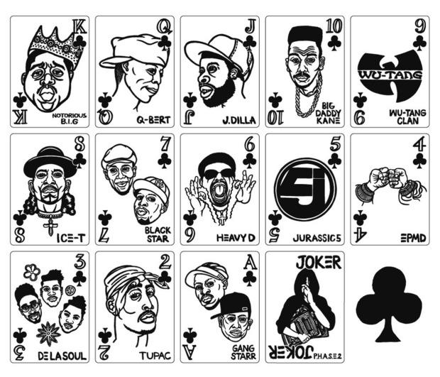 В Японии выпустили игральные карты с хип-хоп-музыкантами. Изображение № 2.