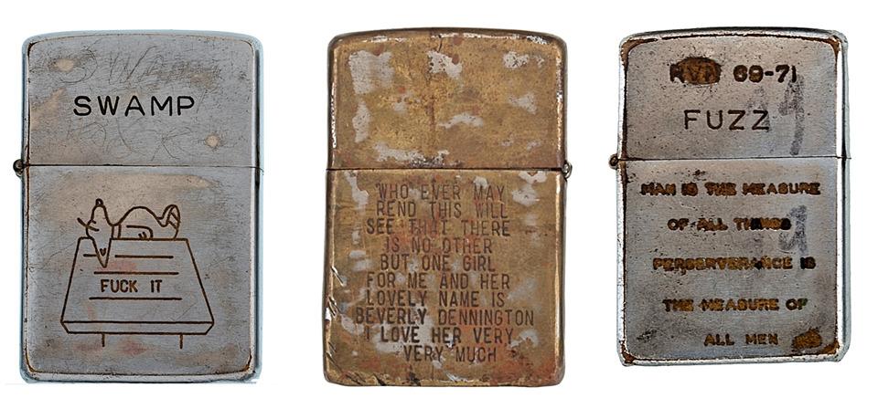 Фотографии коллекции зажигалок Zippo времен войны во Вьетнаме. Изображение №2.