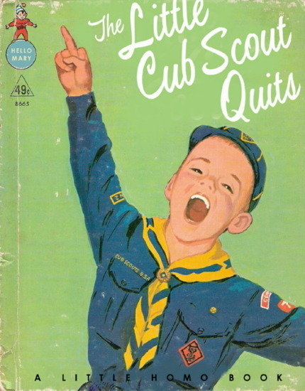 Иллюстратор Боб Стэйк создал пародии на обложки старых детских книжек   . Изображение № 13.