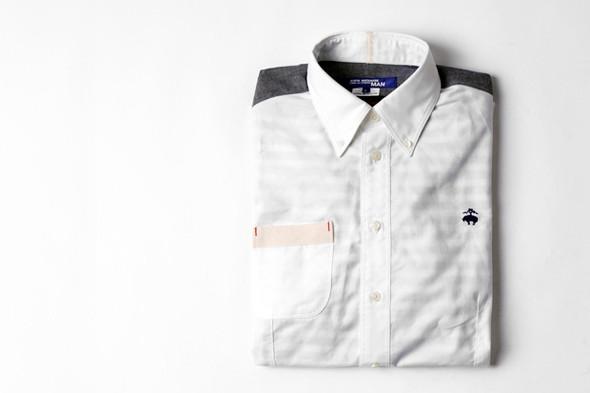Изображение 1. Дизайнер Джуниа Ватанабe создал рубашку вместе с Brooks Brothers.. Изображение № 1.