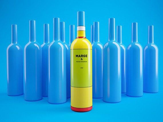 Художники из России посвятили дизайн винных бутылок «Симпсонам». Изображение № 5.