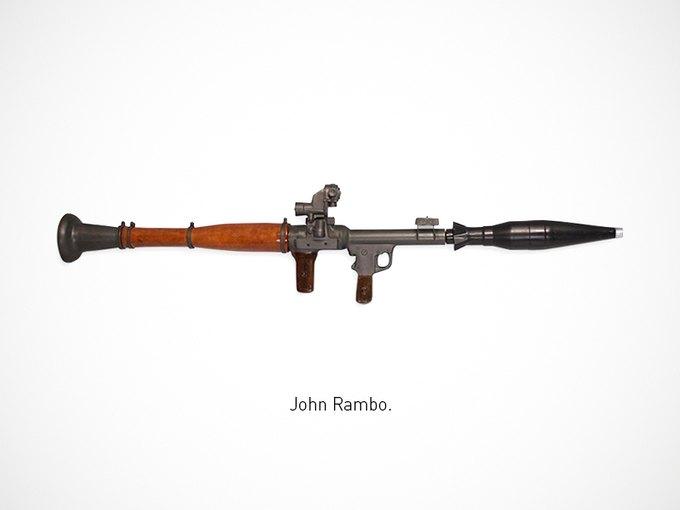 Итальянский дизайнер представил коллекцию плакатов знаменитого оружия. Изображение № 15.